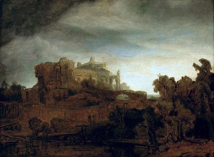 Пейзаж с замком. Харменс ван Рейн Рембрандт