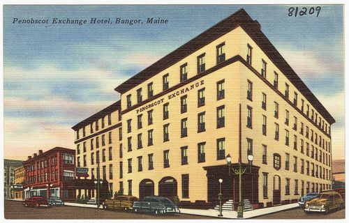Penobscot Exchange Hotel, Bangor, Maine by Boston Public Library, via Flickr