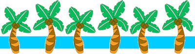 Hawaiian Clip Art | - luau party clip art dividers with a Hawaii / Caribbean or tropical ...