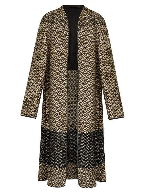 HAIDER ACKERMANN O'Hara Collarless Brocade Coat. #haiderackermann #cloth #coat