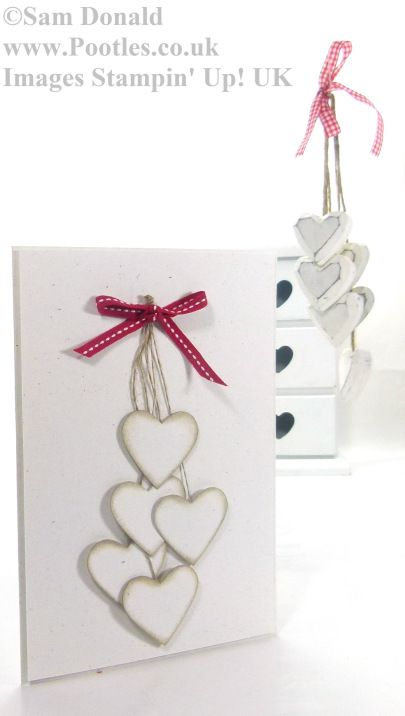 POOTLES Stampin Up UK Extra Large Inspired Hearts 4