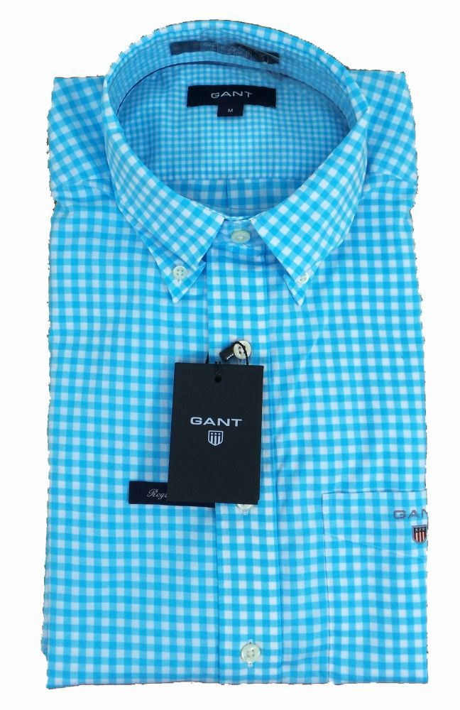 Gant The Gingham Shirt Mediterranean - £85 with FREE UK Delivery #Gant #Shirts #Mens #Fashion