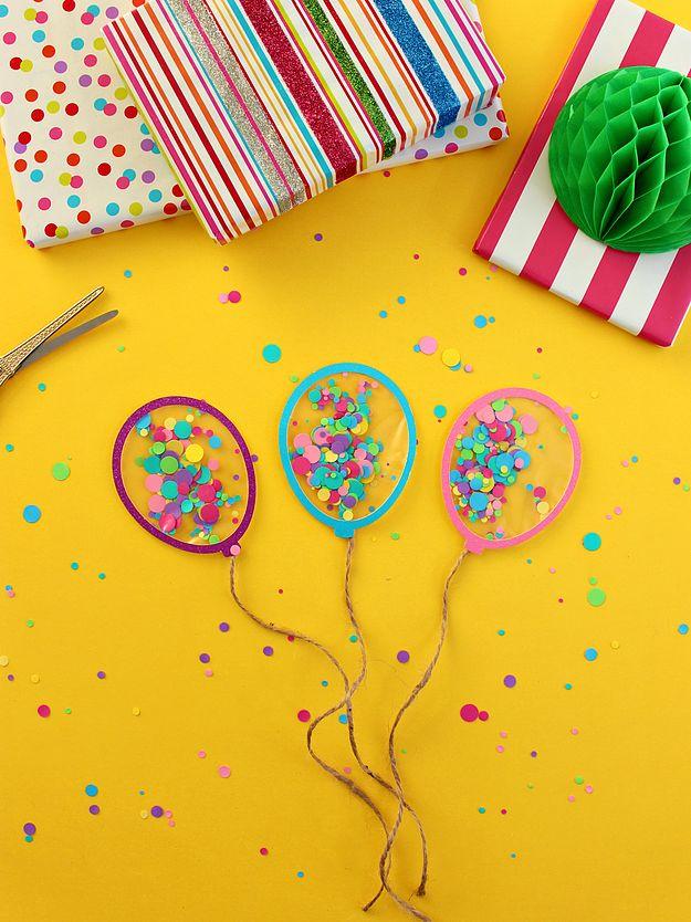 Открытка своими руками с конфетти, день рождения прикольные