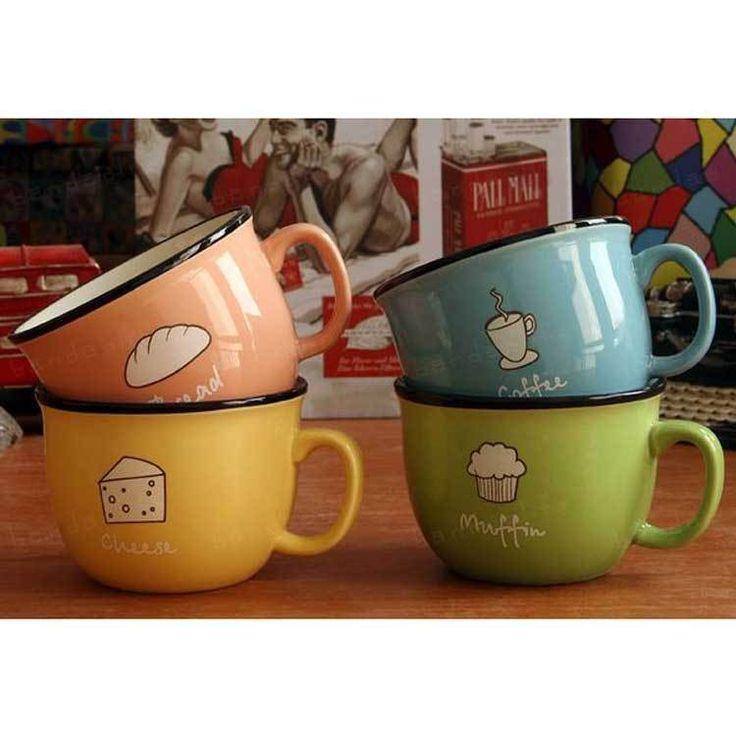 Ceramic mug  milk glass cup love mug coffee kitchen dining bar lovely creative mugs coffee cup drinkware free shipping 2pcs/lot-in Mugs from...