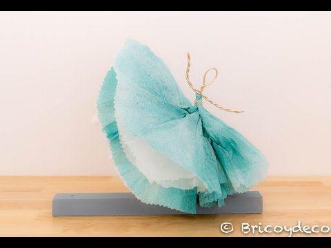 Vídeo tutorial: bailarina hecha con servilletas de papel