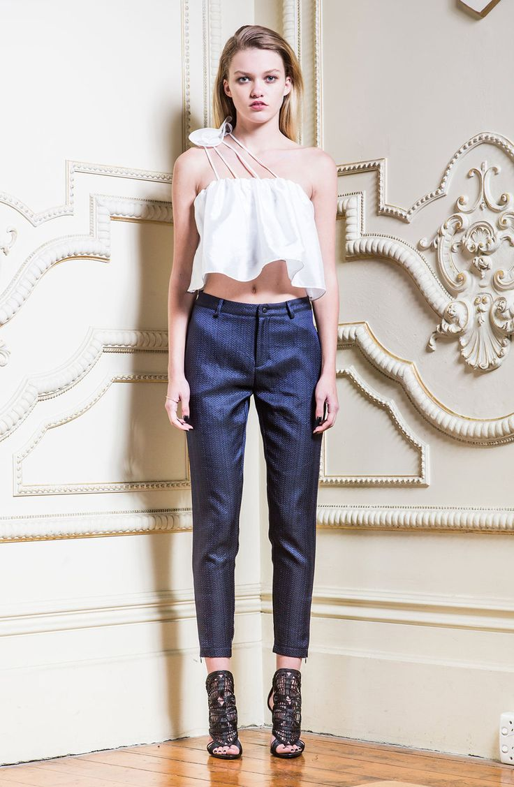 Asilio - Excuse To Touch Structured Pants in Marine Navy