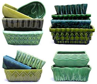 mccoy pottery:  I have a bunch of these and I use them as planters, as they were meant to be used!  But they also make great makeup organizers!