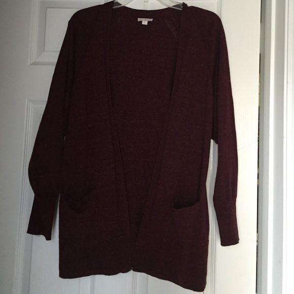 Gap Maroon cardigan Gap Maroon cardigan. In great condition. GAP Sweaters Cardigans