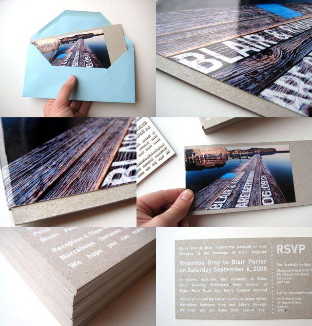 Sydney Wedding Invites | Designer: Greig Anderson