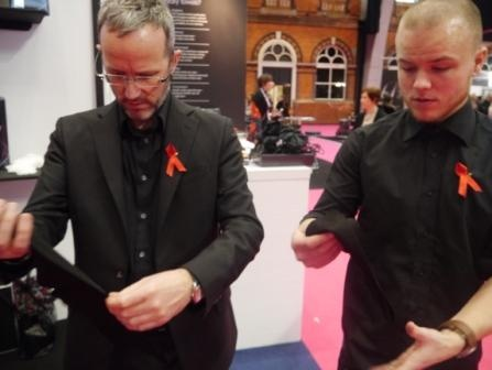 Professional Hairdresser Live 2013 - see the gorgeous Easydry Black Hair Towels being checked out on the stand. www.easydry.com #prohairlive @easydryintl
