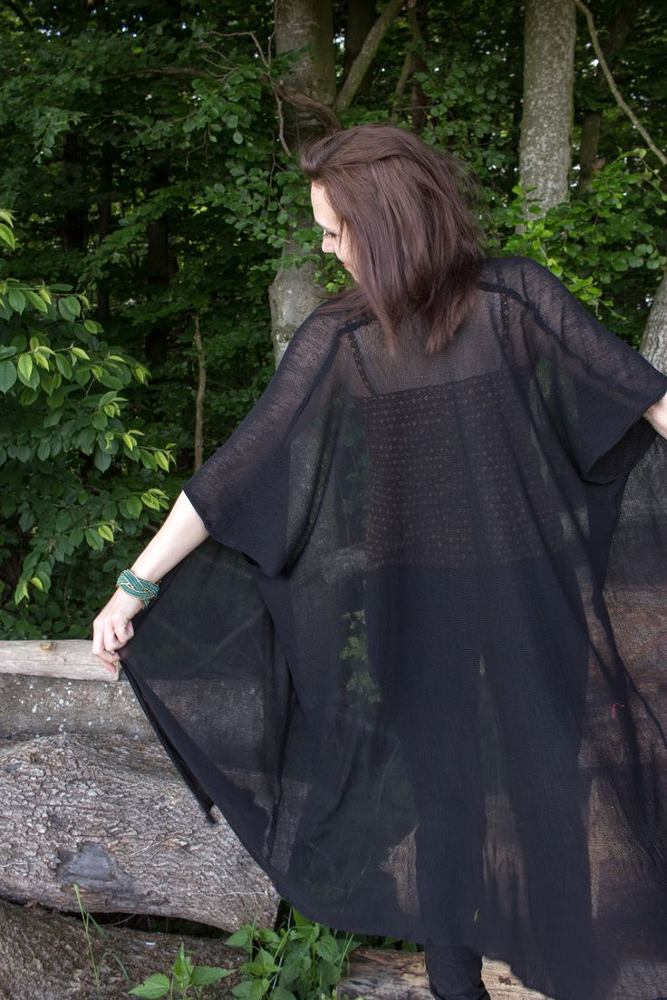 DIY   Kimono aus Strickstoff selbst nähen   Schnittmuster gratis