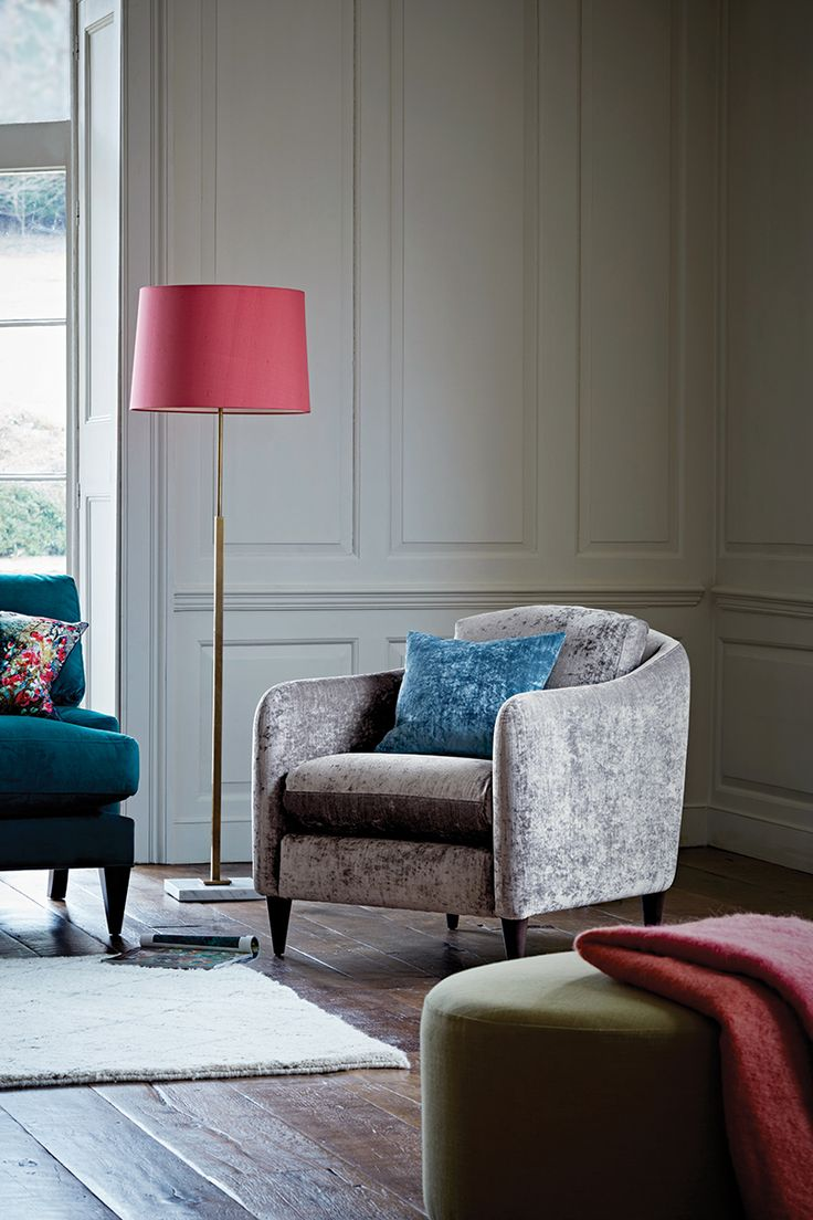 Colourful accent chairs - George Chair In Crushed Velvet Elephant Trunk Theloungeco Sofa
