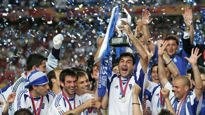 Greece - Champion of EURO 2004  (I was in Greece for this game!)