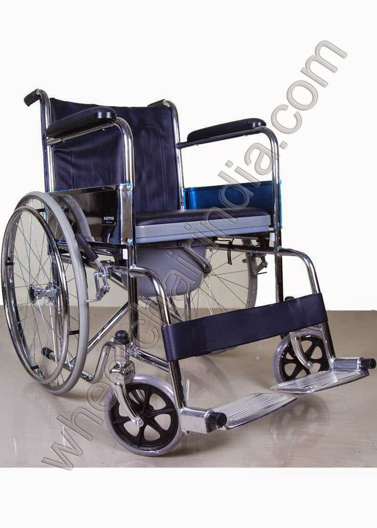 Karma commode wheelchair rainbow comes with lot of exiting features for elderly or physically challenged person who want commode in wheelchair. Karma Rainbow has single seat with center cut commode having cushion cover on top and removable pan or plastic commode seat with pot.  There are two types for handicapped and disability product like Commode Wheelchair:  Commode Wheelchair Rainbow 6 Commode Wheelchair Rainbow 7  Commode Wheelchair Rainbow 6 Features:  Frame Material : M.S.Chrome…