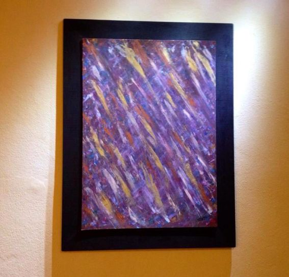 Specchio  di Elena Iori  #astratto #materico #pittrice #arte #quadri #color #elena #pittura #opera #italy #parma #specchio #cornice #acrilico #viola #manufatto #stilecontemporaneo