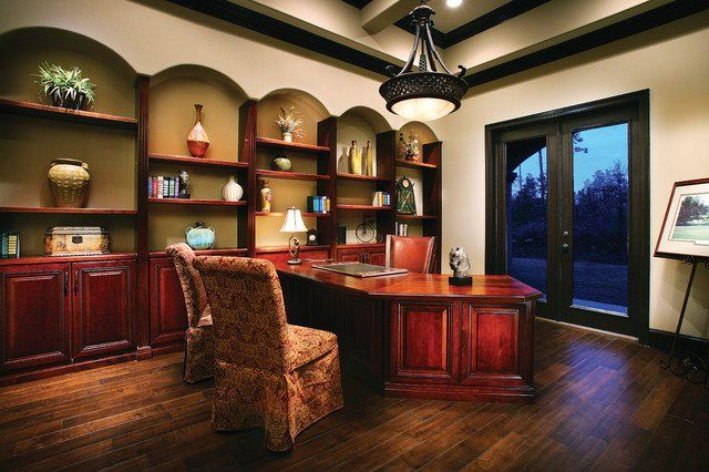 15 Refined Mediterranean Home Offices like the parson chairs for office