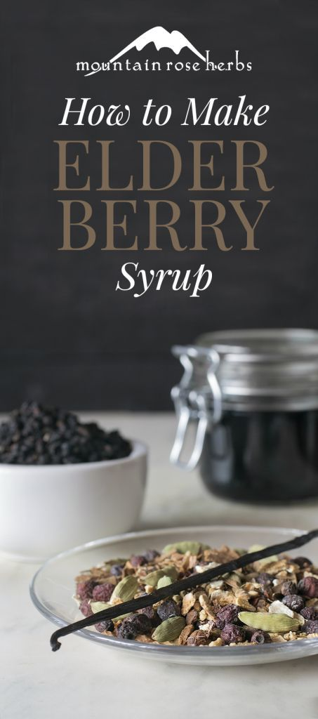 Make your own Elderberry Syrup by Mountain Rose Herbs