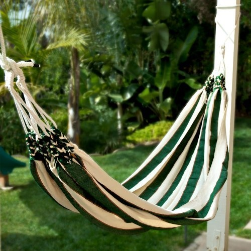 Medium image of panama hammocks la caribena single hammock   green  69 99