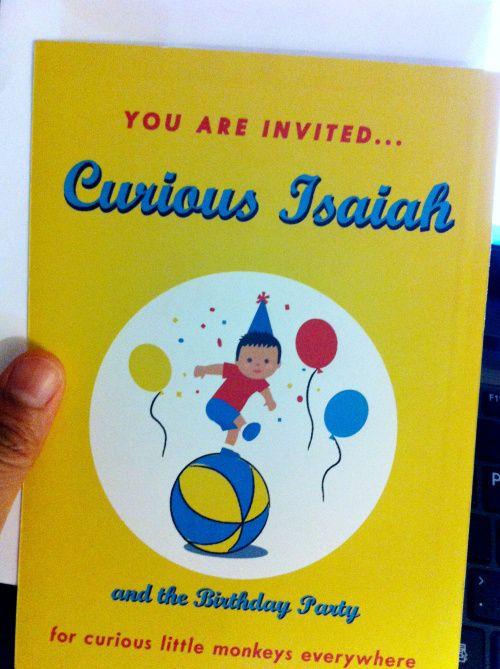 Curious George Birthday Invite