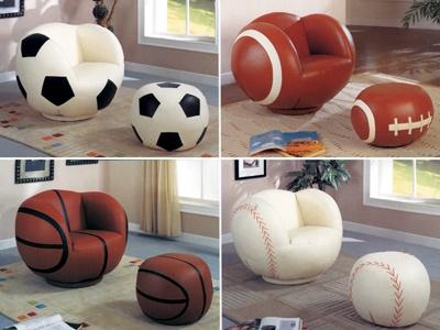 Hank S Fine Furniture Sports Theme Chairs Amp Ottomans