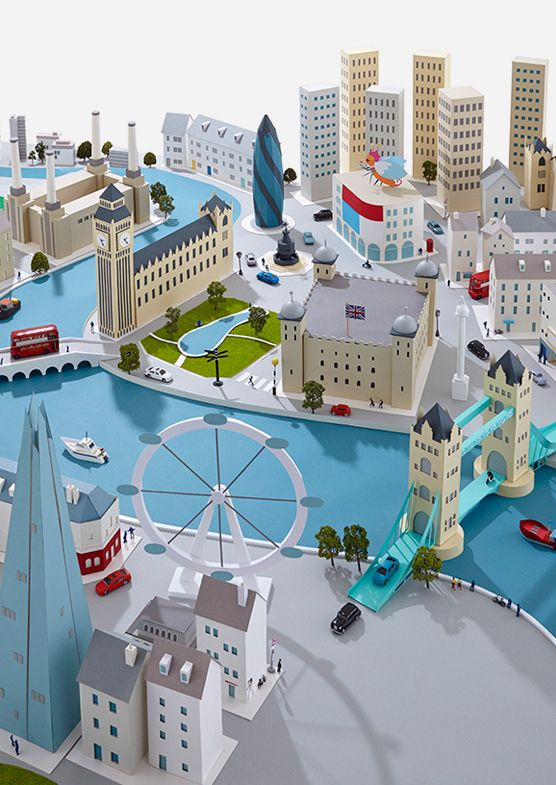 London. Outstanding character of models. Hattie Newman. Paper Cities on Behance