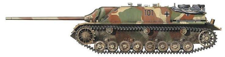 Panzer IV/70(V).№-101  во время испытаний немецкого истребителя танков на одном из канадских полигонов после окончания Второй мировой войны