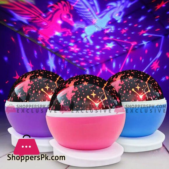 Buy Rotating Night Light Projector Lamp Starry Sky Star Unicorn Children Kids Baby Sleep Led Projection Lamp Usb Aa Battery At Best Price In Pakistan In 2020 Night Light Projector Projector Lamp