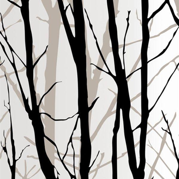PVC White & Black bamboo Wallpaper WP13