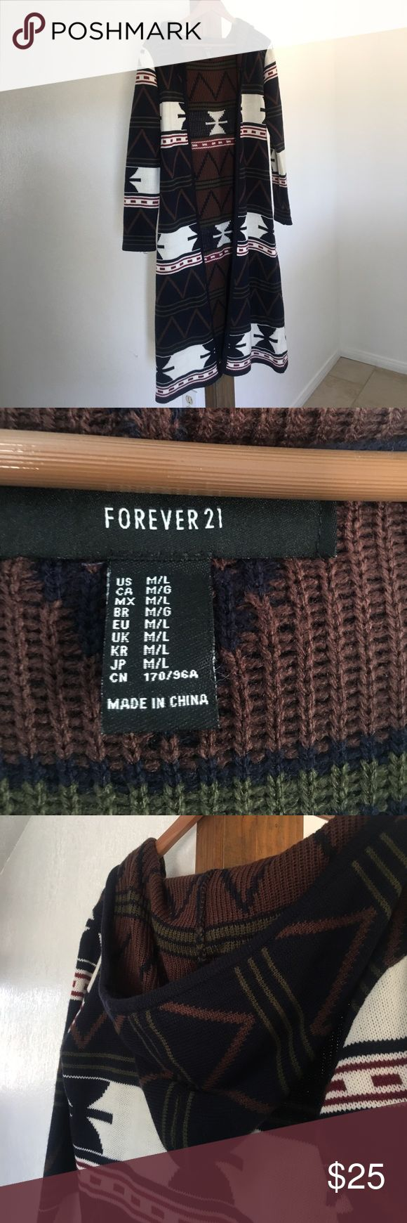 Long cardigan Forever 21 long cardigan size M/L-reposhed I never wore it. Cheaper on ♈️inted Forever 21 Sweaters Cardigans