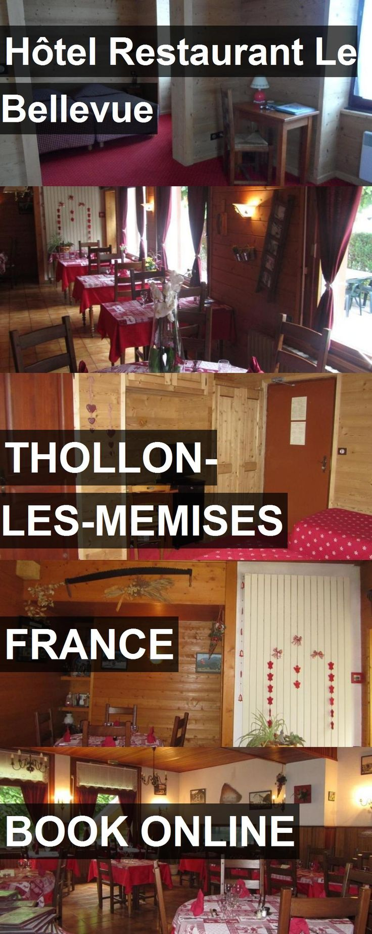 Hotel Hôtel Restaurant Le Bellevue in Thollon-les-Memises, France. For more information, photos, reviews and best prices please follow the link. #France #Thollon-les-Memises #hotel #travel #vacation
