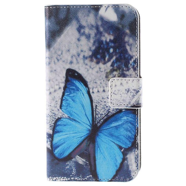 Funda Elegante para Huawei Y625 - Estilo Cartera - Mariposa Azul