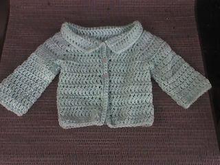 Amy's Newborn Cardigan pattern by Debbie Smith