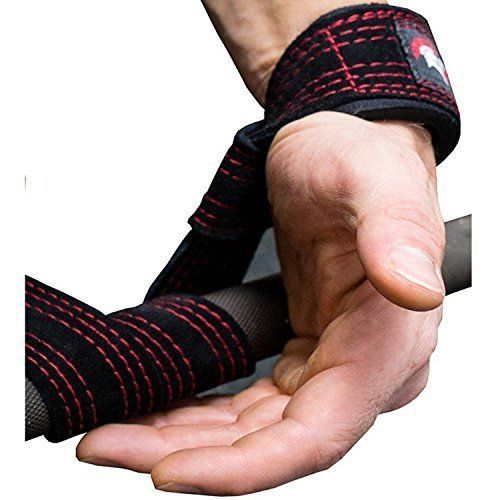 Weight-Lifting-Straps-Leather-Suede-Hooks-with-Padded-Support-Bundle-Men-Women