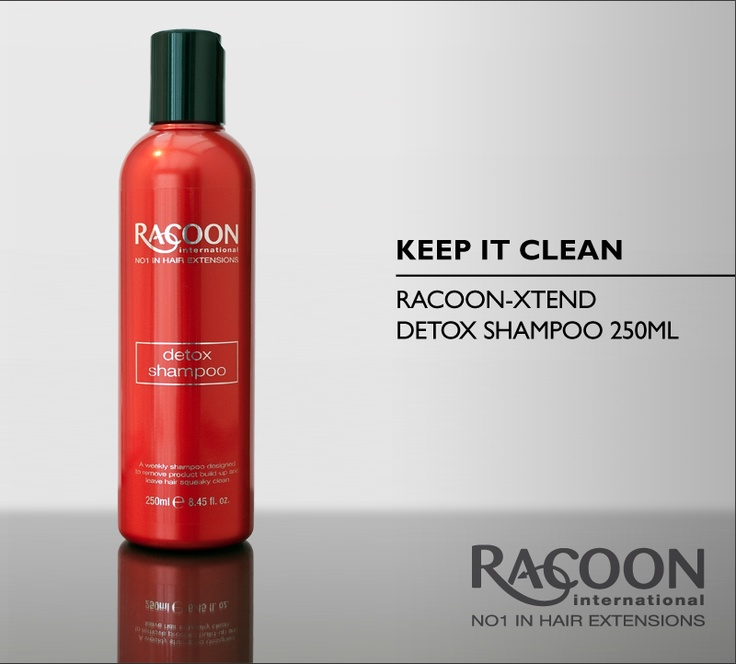 Keep it clean - The gentle but effective weekly shampoo, Racoon-Xtend Detox Shampoo will wash away impurities and rid your hair of product build-up, leaving your natural hair and Racoon extension hair soft, manageable and squeaky clean!    To see the full Racoon-Xtend haircare range, visit our online store.