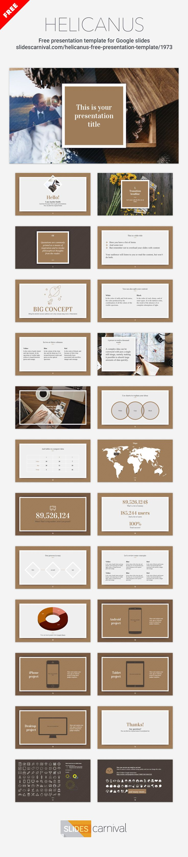 If you're looking for an elegant theme with a classy design and calm color palette, then this one is a perfect choice. Use it to talk about fashion, hotels, travel, cosmetics, etc. If you need to get a professional presentation done by tomorrow, this is a beautiful design to work with.