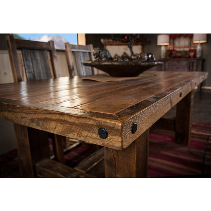 Barnwood Dining Room Tables: Timber Frame Reclaimed Barn Wood Dining Table In 2019