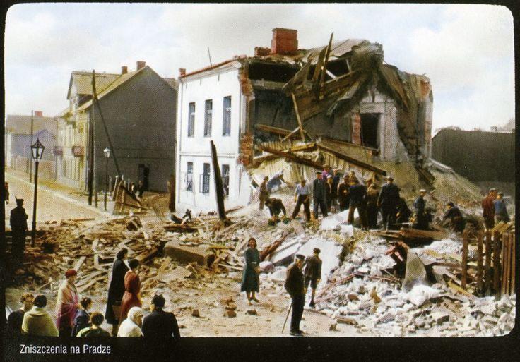 zniszczenia na Pradze, 1939