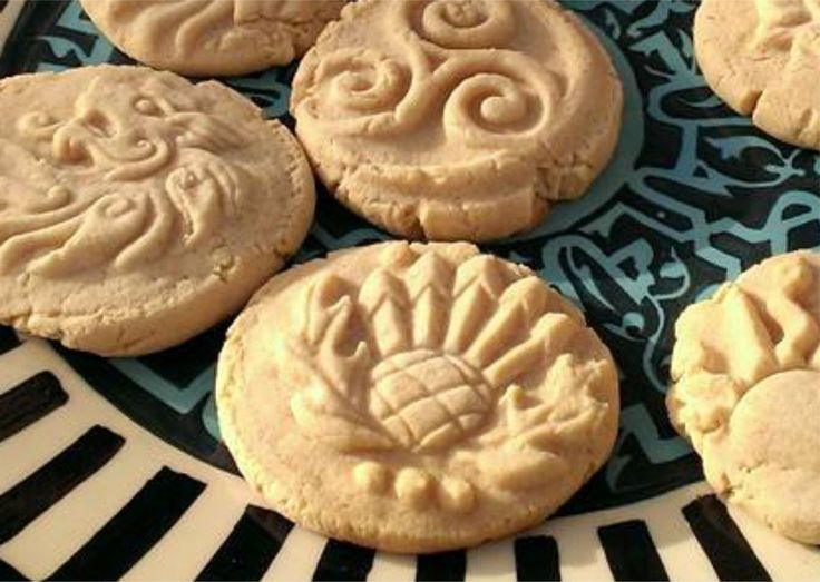 Mmmm, stamped shortbread cookies. See the range of stamps available, plus recipes, at http://www.reannagteine.com/Products/CookieStamp.html