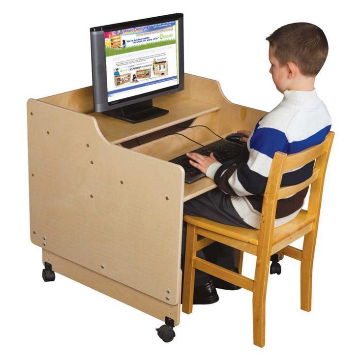 Wood Designs Contender 30 in. Mobile Computer Desk - C41015