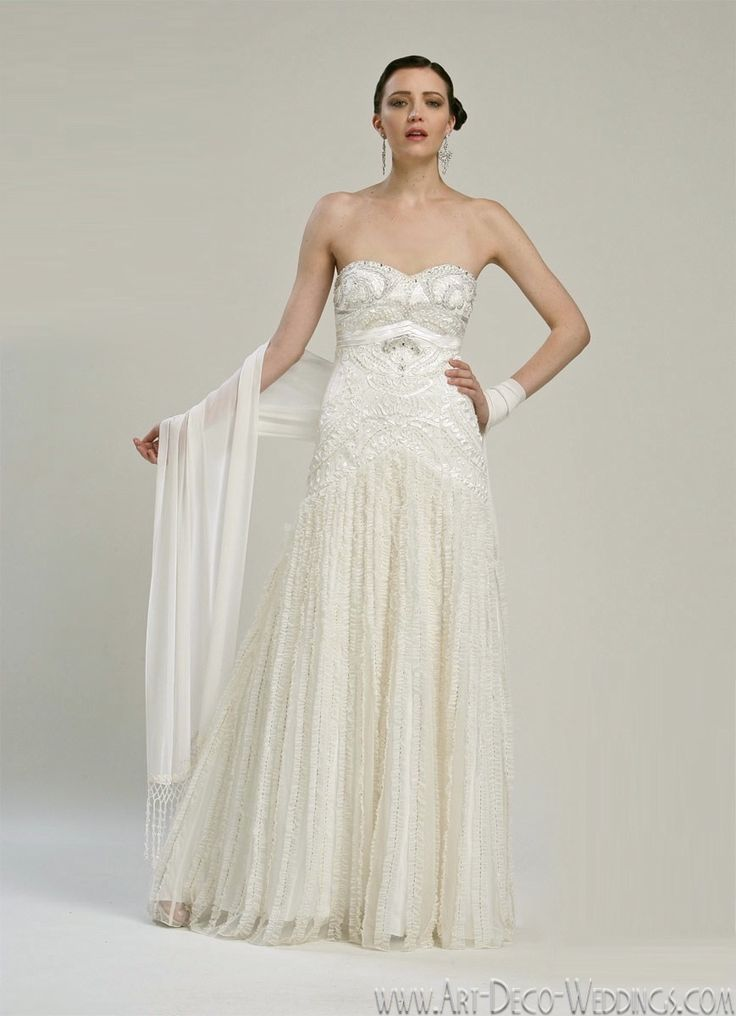 17 best ideas about 1920s wedding dresses on pinterest for Art deco wedding dresses