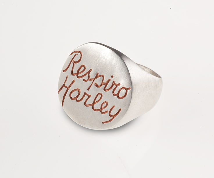 """Respiro Harley"" - Private Label. The first Jewelry collection inspired by a ""Harley Poetry Book"" by Vegas de Laroja ... dedicated to all Harley's fans. info on www.inkproject.it"