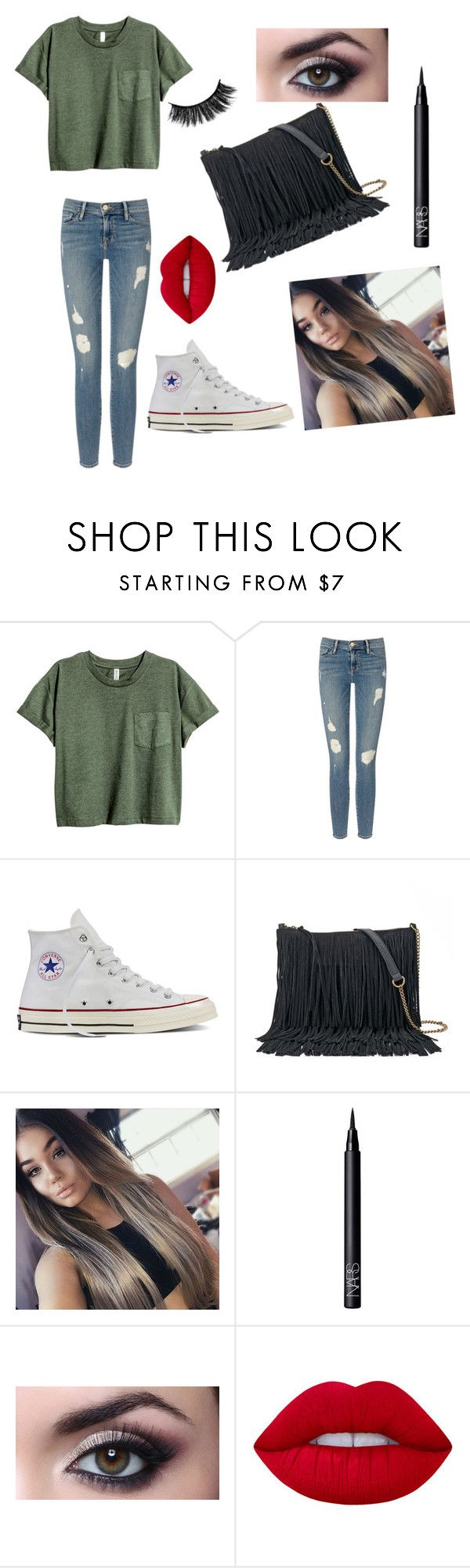 """Untitled #35"" by romi6-1 ❤ liked on Polyvore featuring Frame, Converse, SONOMA Goods for Life, NARS Cosmetics and Lime Crime"