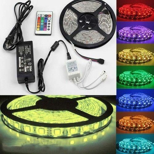 Unusual Items - 5M SMD RGB 5050 Waterproof 300 LED Strip Light 24 Key Remote 12V 5A Power Kit for sale in Johannesburg (ID:198268184)
