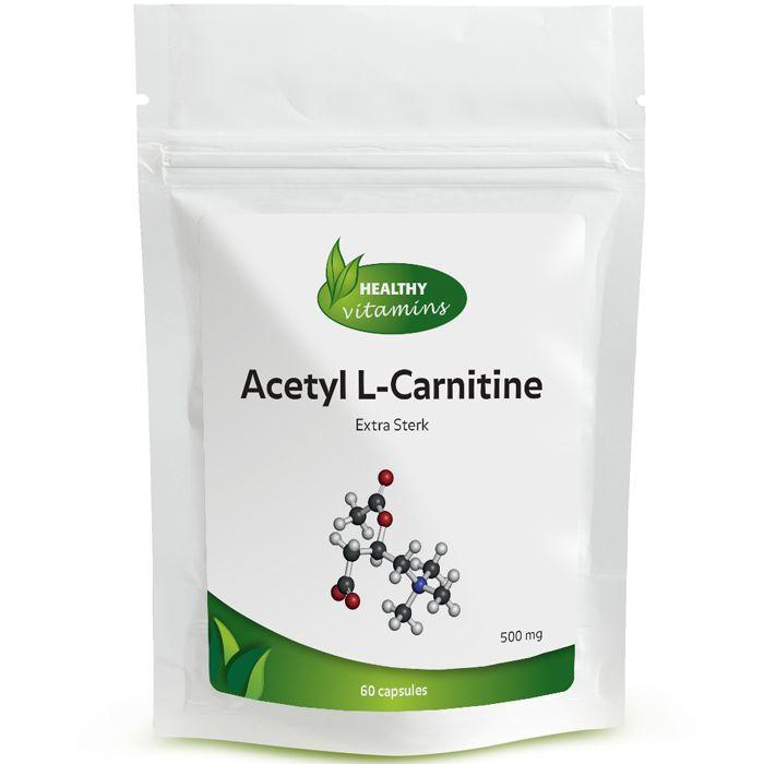 #Acetyl L-Carnitine is een aminozuur dat de cellulaire energieproductie ondersteunt door te helpen bij het vervoer van vet in de mitochondriën. Prijs per 60 capsules: 22,95