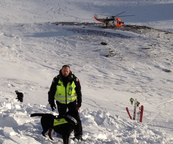 Frode Haraldseth i søk i Hemsedal, Snøskred 2012