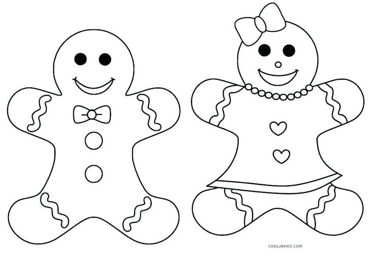 9 best gingerbread colour pages images on Pinterest