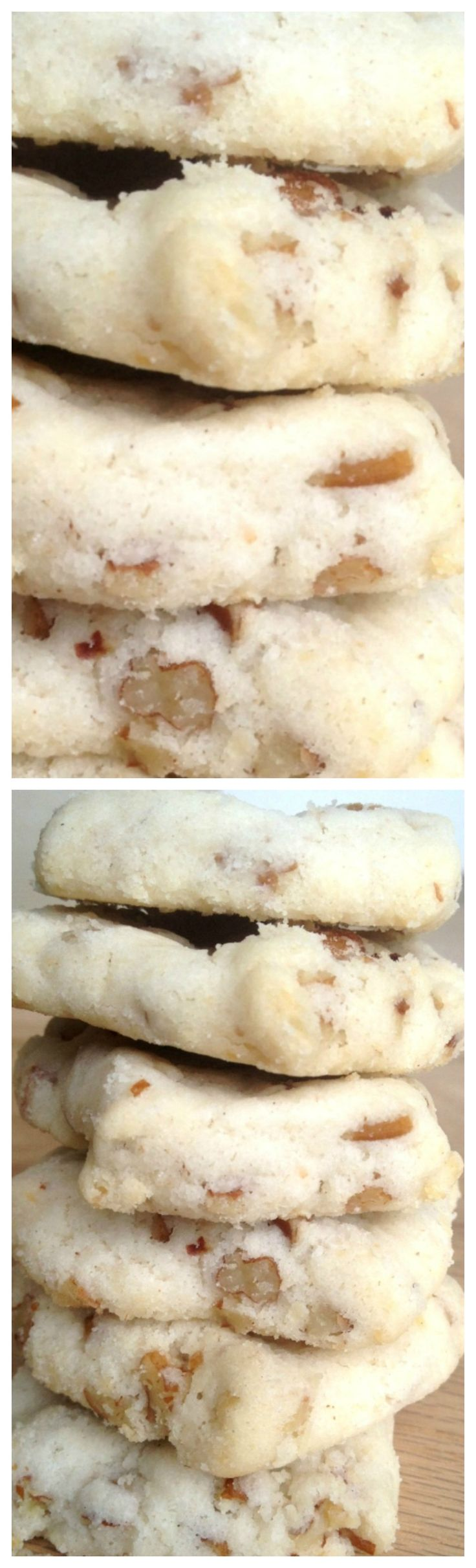 Old Fashioned Pecan Sandies ~ Buttery, pecan goodness- the cookies just melt in your mouth!