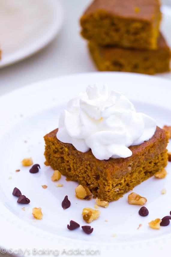 Lightened Up Pumpkin Spice Bars by Sallys Baking Addiction