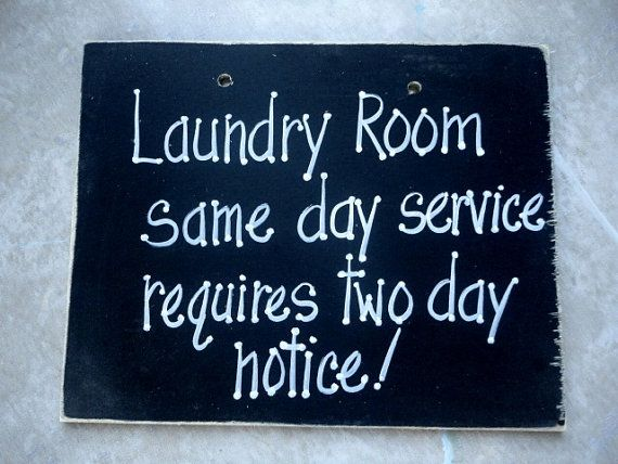 Sign for laundry room and same day service by kpdreams on Etsy