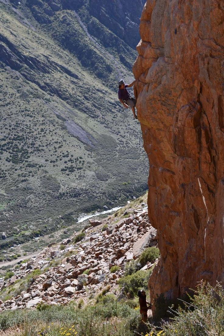 Rock Climbing in Los Arenales, Cajon del Manzano, Argentina